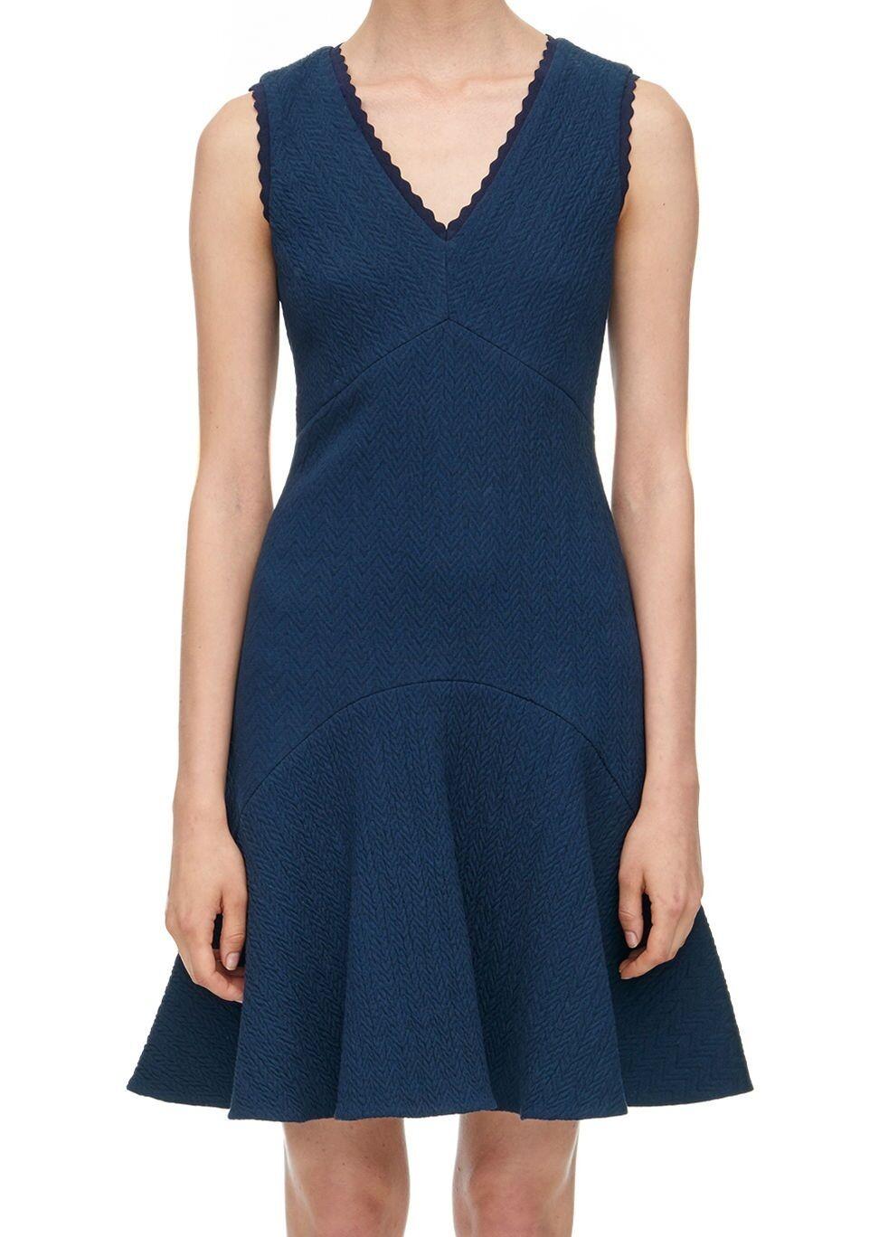 NWT  Rebecca Taylor Texturot Chevron V-Neck Dress Größe 2