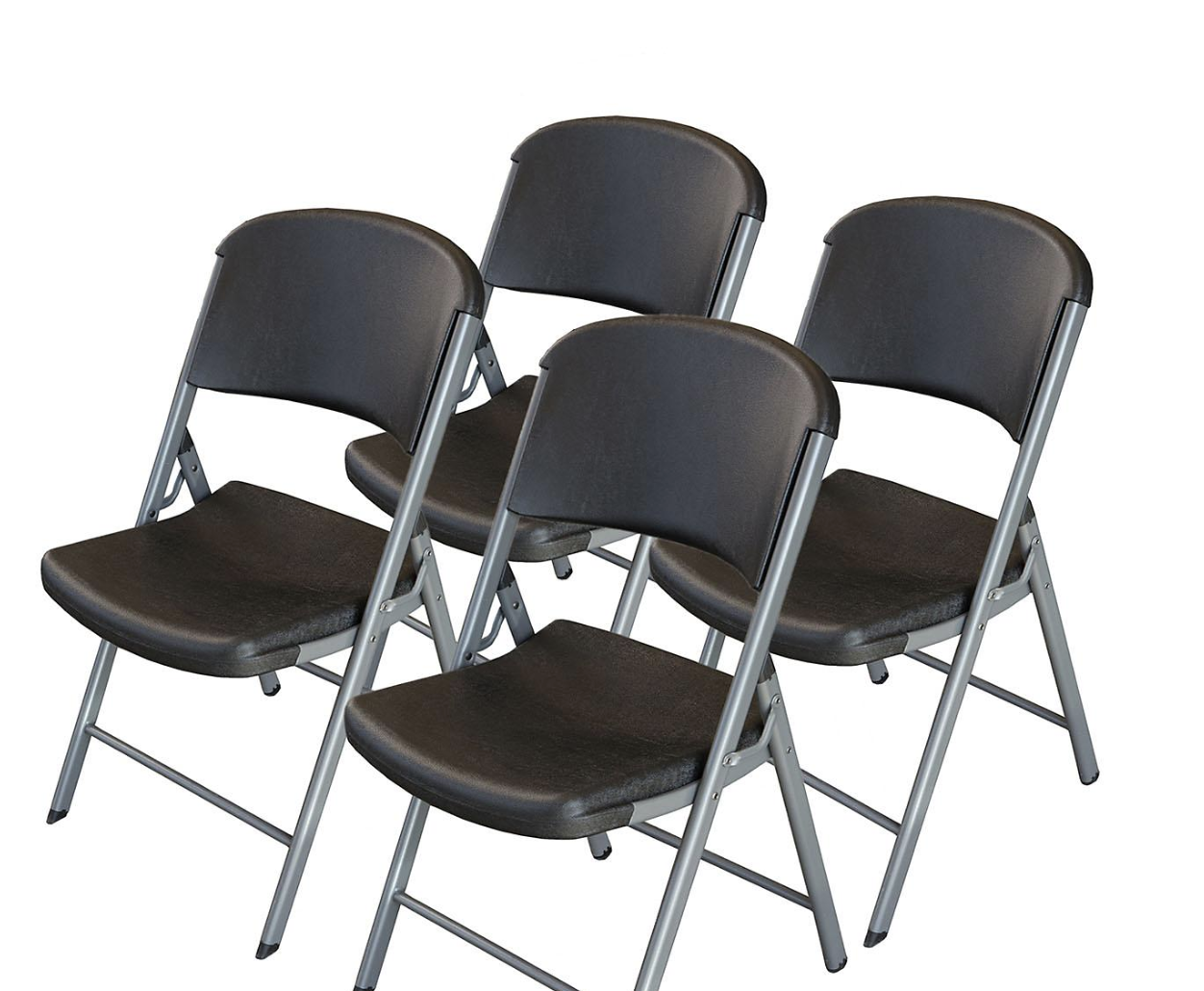 Lifetime Commercial Folding Chairs Black 4 Pk Set