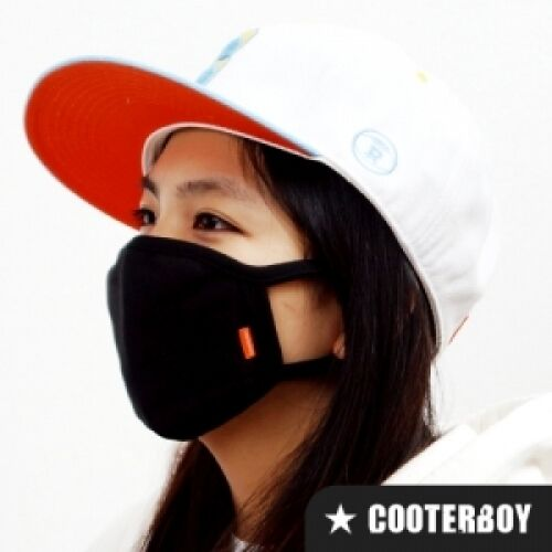 CooterBoy Design Black 100/% Cotton Face Mask Unisex Adult Anti-dust  K-pop Mask
