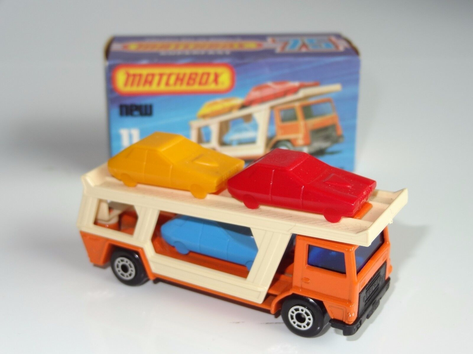 (K) lesney matchbox SUPERFAST CAR TRANSPORTER - 11
