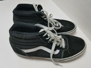9bba3f5e0912c0 Vans Old Skool High Top Black Men s size 9.5 Canvas Suede