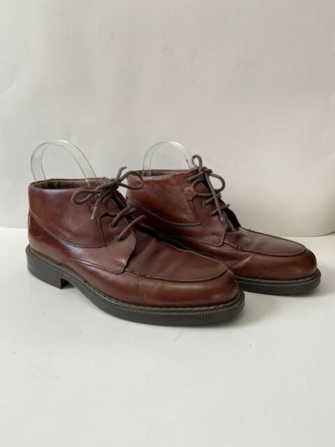 Bacco Bucci Made in Italy Mens Size 9D Brown Leather Lace Up Dress Ankle Boots