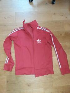 Jacke adidas, Trainingsjacke, rot schwarz, Größe XL in