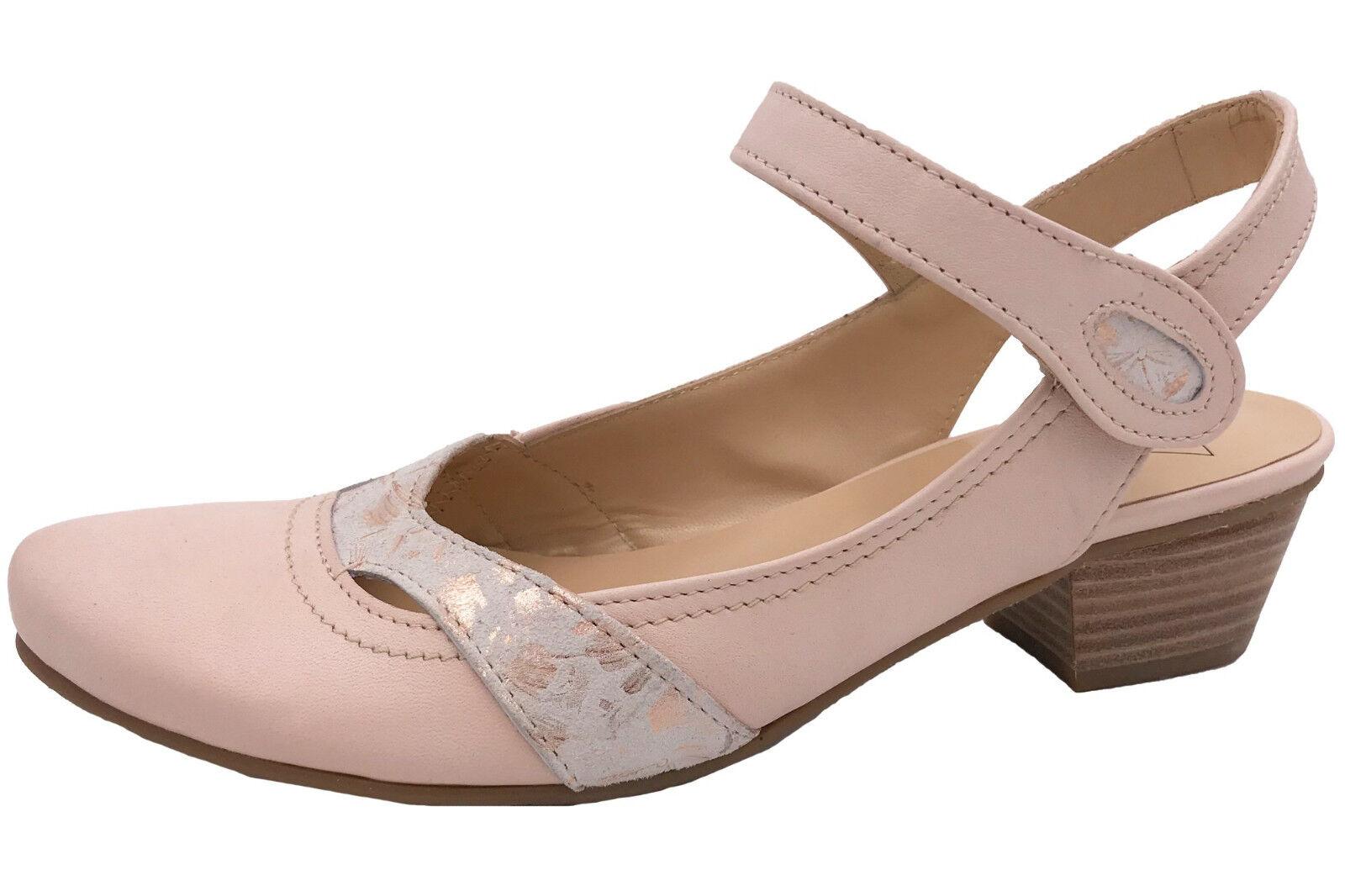Maria Shoes Riemchen Pumps Nude Rosé Leder Damen M229 natur salmon NEU ab Gr. 34