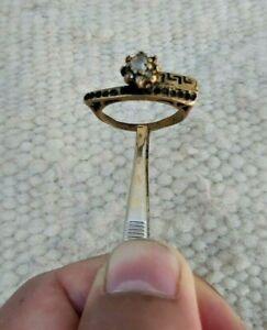 Très Rare Antique Mariage bronze ring old Artefact authentique SUPERBE