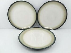 3 Sango Nova Black 4932 Dinner Plates Stoneware Dining Ware Eating Plate Set