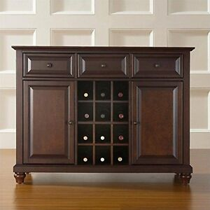 Cambridge Buffet Server/Sideboa<wbr/>rd Cabinet with Wine Storage, Vintage Mahogany
