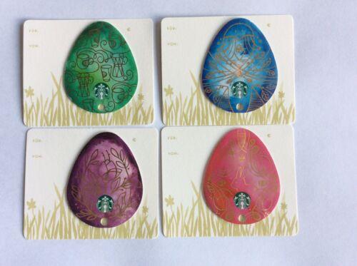Cadeau Carte Starbucks Allemagne # 6118 Pâques Special Set de 4 cartes