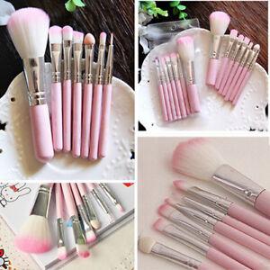 Cn-7Pcs-Pro-Rose-Maquillage-Pinceaux-Set-Fard-a-Paupieres-Outils-Cosmetique