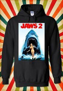 Jaws 2 Steven Spielberg Shark Attack Men Women Unisex Top Hoodie Sweatshirt 2113