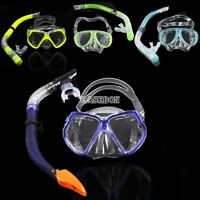 EA Scuba Diving Equipment Dive Mask + Dry Snorkel Set Scuba Snorkeling Gear Kit