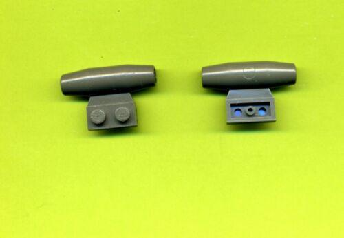 -Grau/OldDkGray--Düse--Triebwerk--Space--2 Stück Lego--3475--1 x 2 LEGO Baukästen & Sets