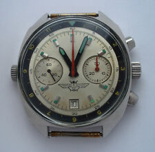 Sturmanskie Vintage USSR Russian Soviet watch Poljot Chronograph 3133 + bracelet