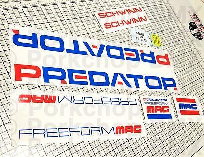 Officially licensed 1979-80 Team Schwinn frame BMX decal set USA made frame