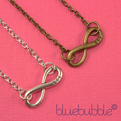FUNKY BEST FRIENDS FOREVER INFINITY NECKLACE BFF SWEET CUTE GIRLS VTG XMAS GIFT