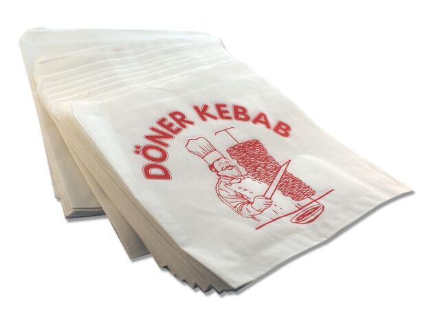 0,39€//100Stk. Döner Kebab Verpackungen  Döner Tüten Weiß 16000x Dönertaschen