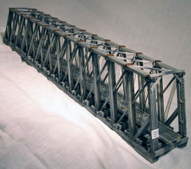 170 Howe Truss Through Bridge S On30 Model Railroad Structure Wood Kit Hl104s