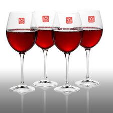 4 x 640cc RCR Bordeaux Red White Wine Tasting Glasses Luxion Crystal Glassware