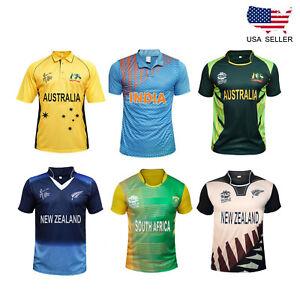 16fa5146c7f Men Cricket T Shirt T20 Cup Jersey Indian Australia Pakistan New ...