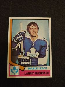 1974 -75 Topps Lanny McDonald rookie ice hockey card Toronto Maple Leafs #168 NM