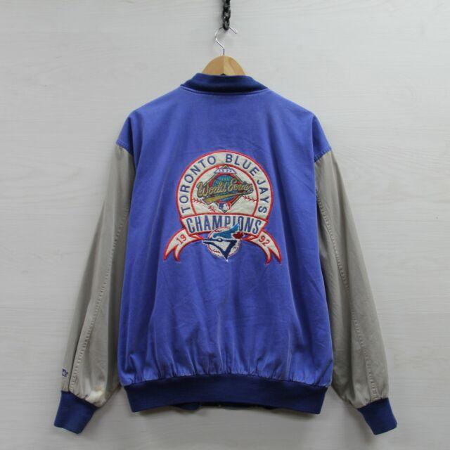 Vintage 1992 Toronto Blue Jays Starter World Series Paisley Jacket Large 90s MLB
