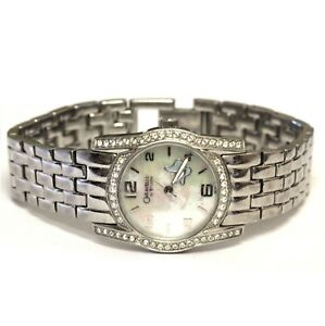 Bulova-Caravelle-cubic-zirconia-stainless-steel-watch-74-4g-estate-vintage-CZ