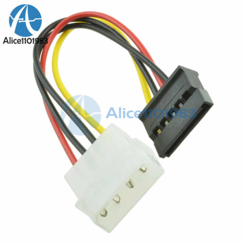 2PCS Male//Female SATA to Female//Male IDE Dual 4//15 Pin Power Drive Adapter Cable