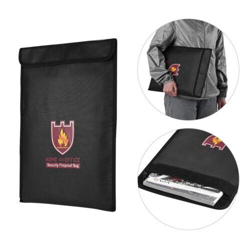 Feuerfest Geld Document File Bag Pouch Bankkarten Pass Organizer Halter Q1J4