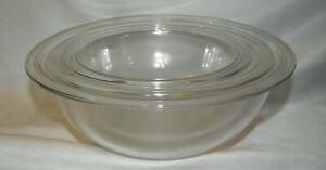 Pyrex Corning Clear Set with Rims #325 2.5 qt, #323 1.5 qt, & #322 1qt complete