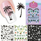 Summer Style Coconut Tree Water Transfer Sticker Nail Art Decals