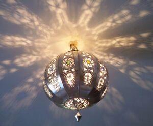 Lampadario plafoniera marocchino ferro battuto lampada applique p
