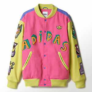 Details about RARE! Adidas Originals ObyO X Jeremy Scott x Kenny Scharf Varsity Jacket CUTE