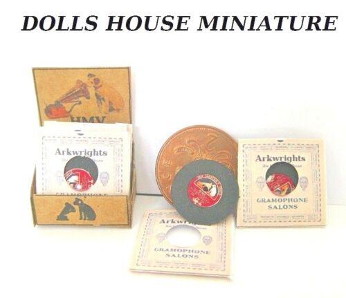 Contador de tienda de Dollshouse arkwrights gramófono pantalla