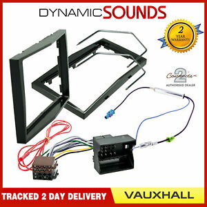 Vauxhall-Corsa-D-Car-Stereo-Double-Din-Fascia-Panel-amp-Fitting-Kit-Piano-Black