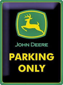 John-Deere-Parking-Solo-Grande-Goffrato-Acciaio-Firmare-Na-4030-Verde-Confine