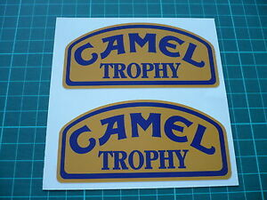 CAMEL Trophy Stickers/Decals - 100mm Pair