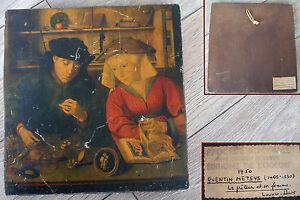 Ancienne reproduction peinture sur bois quentin metsys le for Peintre sur bois
