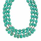 Silpada Drops of the Ocean Natural Howlite 3-Strand Necklace