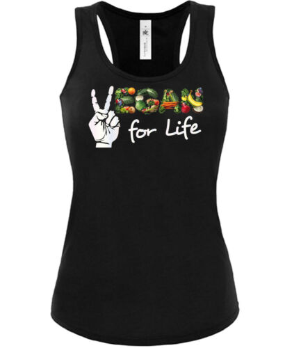 Vegan for Life Tank Top Damen Gr.S bis XL Golebros Ernährung Verganer