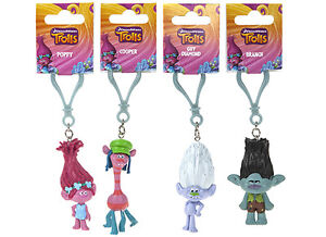 Dreamworks-Trolls-Poppy-Branch-Guy-Diamond-amp-Cooper-3D-Keychain-7cm-2-7-039-New