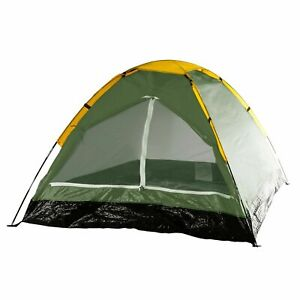 Two Person 2 Man Green Tent with Carry Bag Camping Easy Assemble 75 x 58