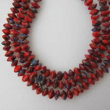 60pcs Beads 6mm Red Glass Cushions Millefiori For Any Crafty Jewellery Making