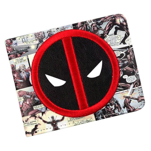 Marvel Deadpool Wallet Mens Credit Card Holder Purse Bi-fold ID Cash Clutch