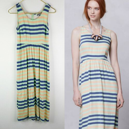 Dusen Dusen Anthropologie Spring Stripe Midi Dress