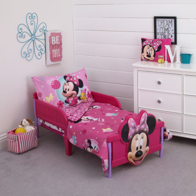 Disney Minnie Mouse 4-Piece Toddler Bed | eBay