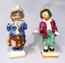 Old Porcelain Royal Vienna Miniature Street Urchin Beggar Boy & Girl Figurine