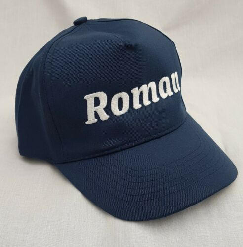 with Name Personalised Kids Children/'s Embroidered base ball cap hat