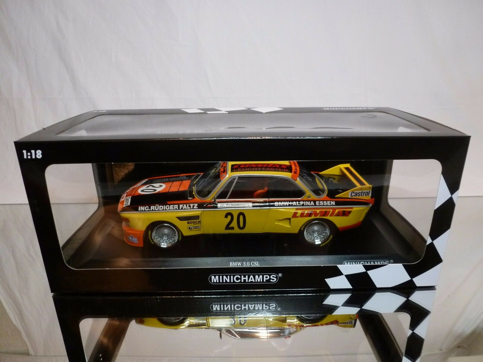 MINICHAMPS 742620 BMW 3.0 CSL - FALZ ALPINA - Gelb 1 18 RARE- EXCELLENT IN BOX