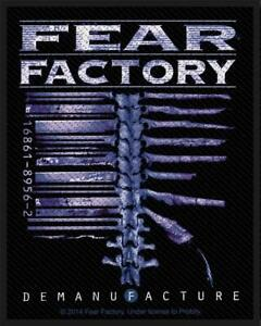 OFFICIAL-LICENSED-FEAR-FACTORY-DEMANUFACTURE-SEW-ON-PATCH-METAL
