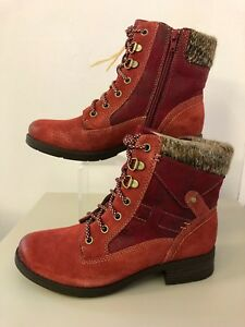 5 Boot Zip Spirit Diego Sandiego Red Ankle Scarlet Laces Earth San v8qU7Xq6